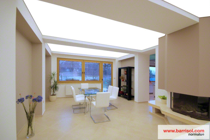 Barrisol translucent ceiling with backlighting
