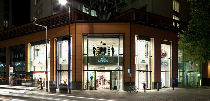 Barrisol Install Retail Lighting In Lacoste Flagship Store