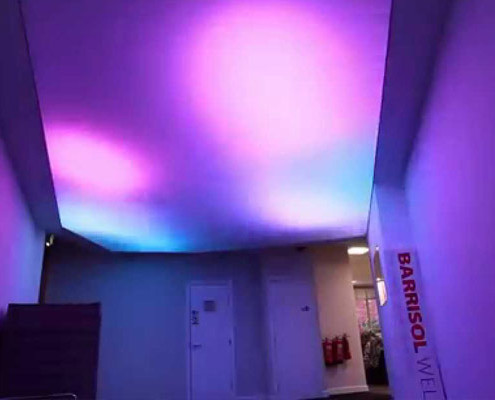 Barrisol Welch Virgin Media Ceiling Lighting