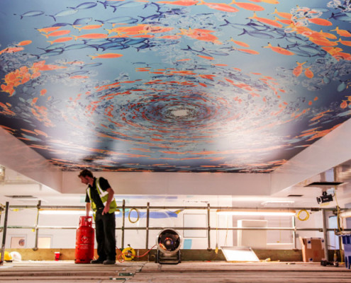 Barrisol Welch Printed Stretch Ceiling Installations
