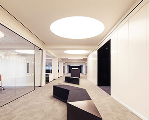 Barrisol Welch Selfridges Head Office Corridor-Lighting