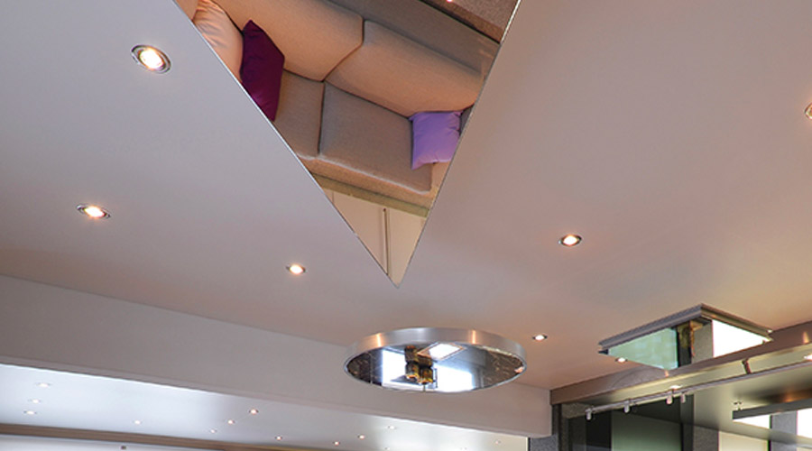 Barrisol Mirror Residential Installations Shaped Ceiling Features