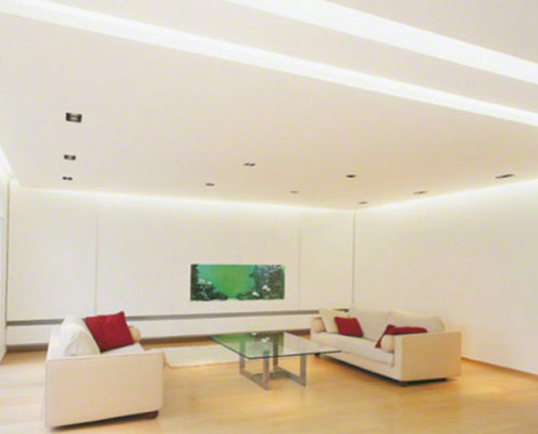Barrisol Residential Stretch Ceiling And Lighting