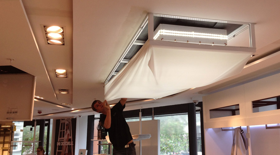 Barrisol  Lighting Installations For Retail