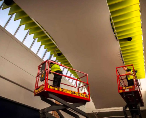 Barrisol Welch Shopping Centre Acoustic Ceiling Installations