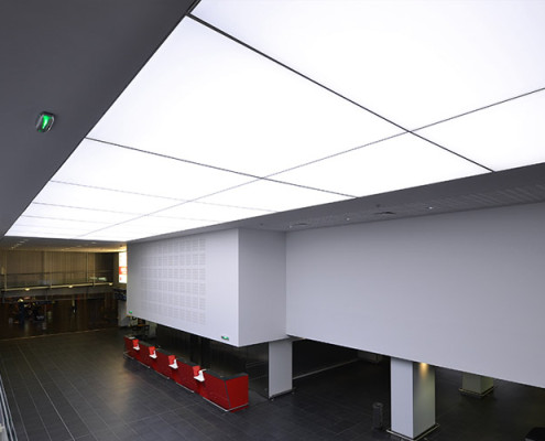Barrisol Airport Acoustic Light Installations