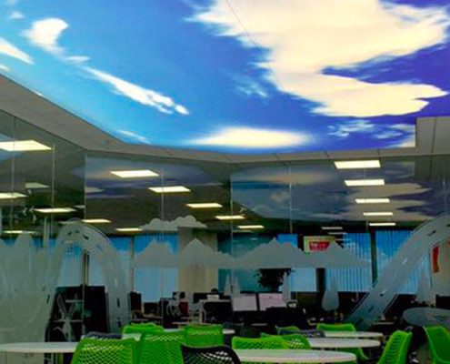 Barrisol Illuminated Sky Print Ceiling