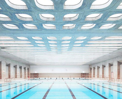 Barrisol Swimming Pool Acoustic Lighting