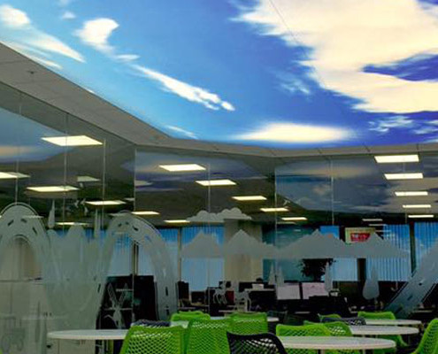 Vauxhall Head Office Printed Ceiling Installation