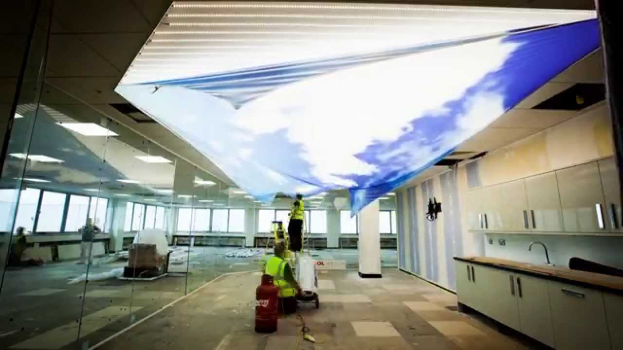 Barrisol Printed Ceiling Installation Video