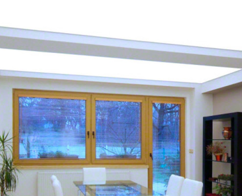 Barrisol Illuminated Dining Room Ceiling