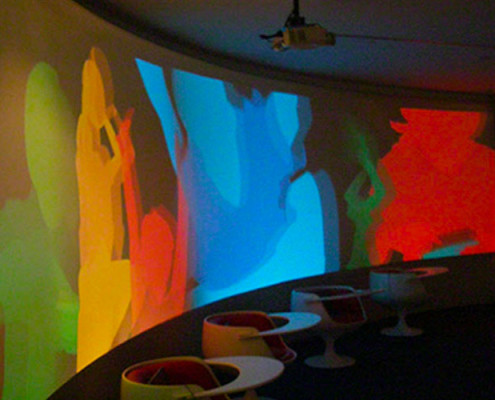 Barrisol Curved Projection Wall