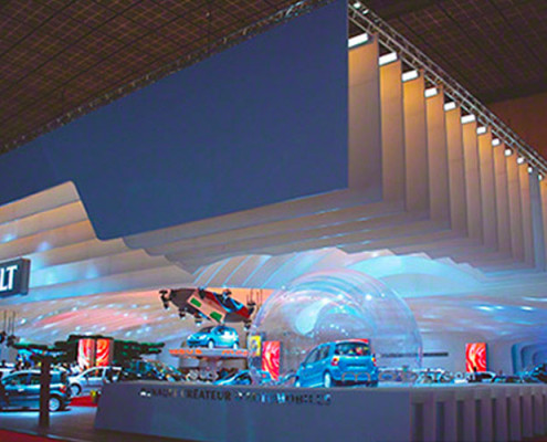 Barrisol Projection Displays