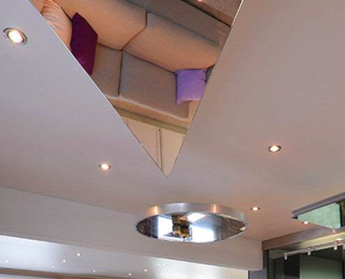 Barrisol Shaped Mirror Ceiling Features