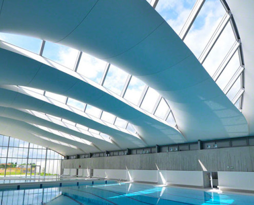 Barrisol Acoustic Stretch Swimming Pool Ceiling
