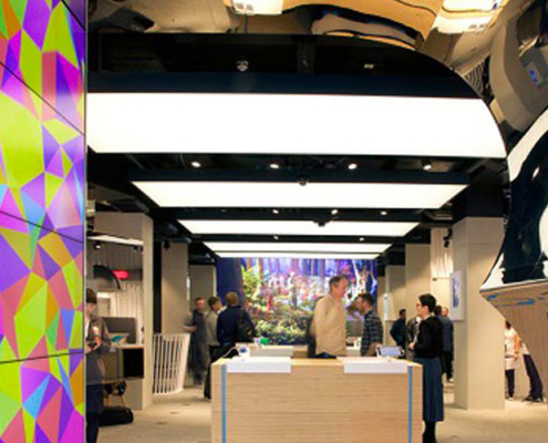 Barrisol Lighting Retail Projects