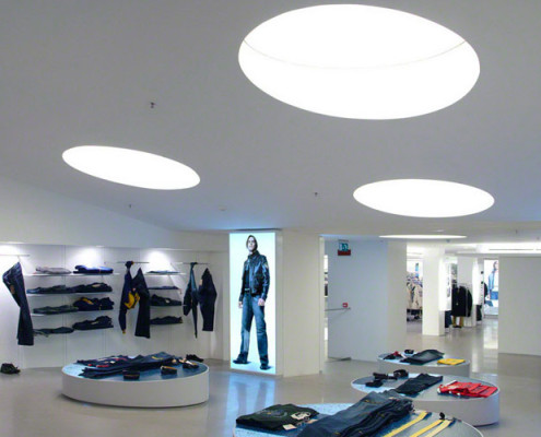 Barrisol Retail Lighting Features