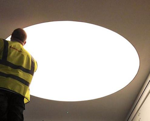 Barrisol Lighting Installations