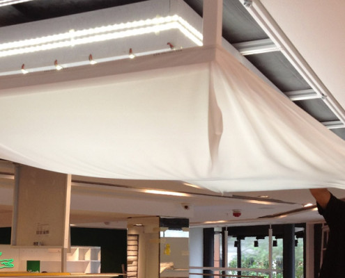 Barrisol Welch Lightbox Installations For Retail