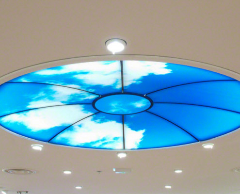 Barrisol Illuminated Print Ceiling Feature