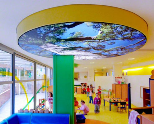 Barrisol Print Ceiling Feature Nursery School