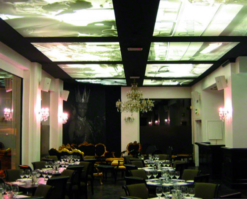 Barrisol Printed Ceiling Restaurant Installation