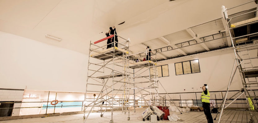 Barrisol Moberly Sports Centre Acoustic Ceiling