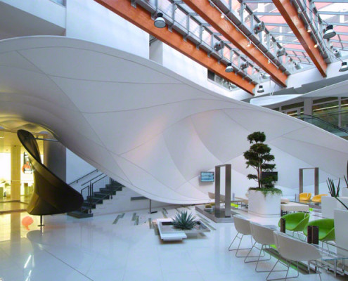 Barrisol Commercial Lobby Designs