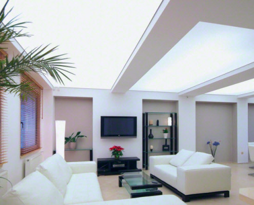 Barrisol Illuminated Living Room Ceiling