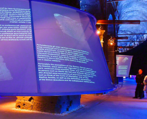 Barrisol Projection Museum Exhibition Installation