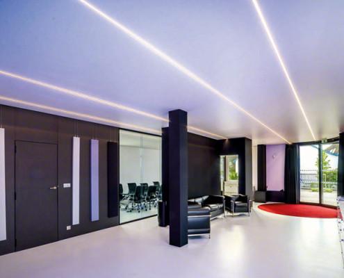Barrisol Light Lines Linear Installation