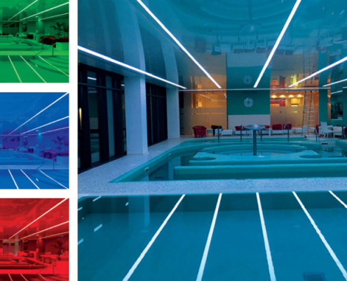 Barrisol Light Lines With Changing Colour Options